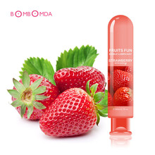 80ML 6 Kinds Fruit Flavor Water Based Edible Sex Lubricant Sexual Anal ejaculation delay spray water based lubricante vagina sex