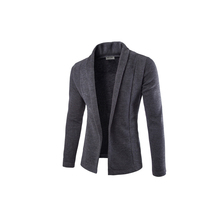 2017 Newest Jacket Men veste homme Turn Down Collar Cardigan Knit Jackets Slim Long Sleeve Solid Regular Coat chaquetas hombre(China)