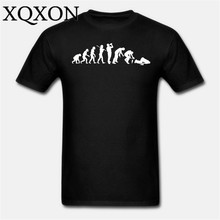 The Evoluton Of Drunk Man Men t-shirt cotton fashion man t shirt summer clothes D2066