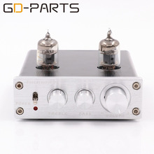 Brand New GD-PARTS Mini 6J1 Vacuum Tube Preamp Preamplifier Stereo Treble Bass Tube Buffer Control Silver HIFI AUDIO 1PC(China)