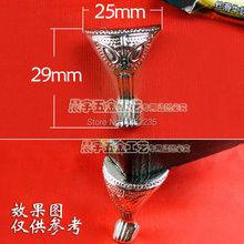 25*29mm Silver sofa feet Furniture legs Antique pattern Wooden box decoration Support foot Angle code(China)