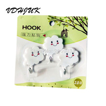 3 Pcs Bathroom Towel Holders Hangers Adhesive Sticky Stick on Wall Lovely Cloud Shape Hooks Towel Holders Hangers Unique Design