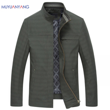New Arrivals 2017 Spring Plaid Jackets Mens Coats & Jackets Casual Male Jackets Middle-Aged Outerwear Coats For Male Clothing(China)