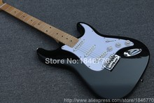 New arrival custom shop Eric Johnson St electric guitar, Maple neck ST black guitar,SSS,free shipping(China)