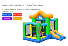 Inflatable Trampoline kids toy air bouncer home trampolines inflable toy with jumping bed bounce house castle slide playground(China)