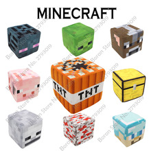 New Hot Minecraft Pillow 20cm Square Cushion Minecraft Toy Short Plush TNT Game Minecraft Cushion Pillow Modern