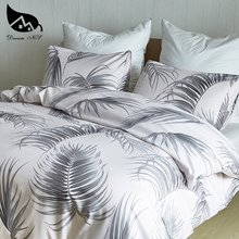 Dream NS Household Bedding Set Brief Three Piece Suit 100% Polyester Fibre Sanding Bedding Sets Coconut Tree Printed Plant(China)