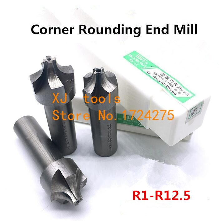 2/4Flute R1-R12.5mm HSS Corner Rounding End mills,Ball nosed End Mill concave Radius milling cutters (R2/R3/R4/R5/R6/R7/R8/R9)(China)