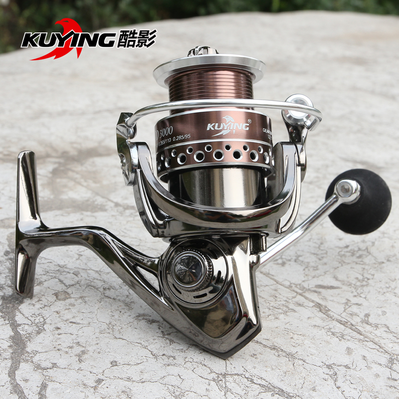 KUYING XD 13+1 Bearing Spinning Fishing Reel Pre-loading Fish Wheel Coil Vessel Metal Spool Long Distance Throwing Free Shipping<br>