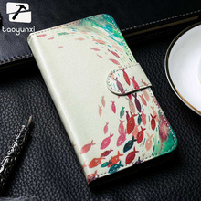 TAOYUNXI Anti-knock Great Flip Cases For Sony Xperia E C1504 C1605 C150x M Dual C1904 C2005 DIY Painted Leather Holster Cover