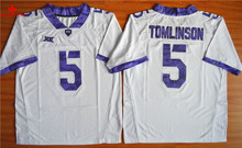 Nike TCU Horned Frogs LaDainian Tomlinson 5 NCAA Limited Ice Hockey Jersey - Grey Size M,L,XL,2XL,3XL(China)