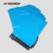 HARD IRON Premium Quality Blue Plastic Mailers Custom Size Bags Blue Poly Posting Courier Envelope Pouches(China)