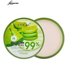1pcs Makeup Concealer Pores Cover Face Whitening Brighten Powder Natural Aloe Vera Moisturizing Smooth Foundation Pressed Powder(China)