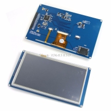 "SSD1963 7"" TFT LCD Module Display + Touch Panel Screen + PCB Adapter Build-in -R179 Drop Shipping"