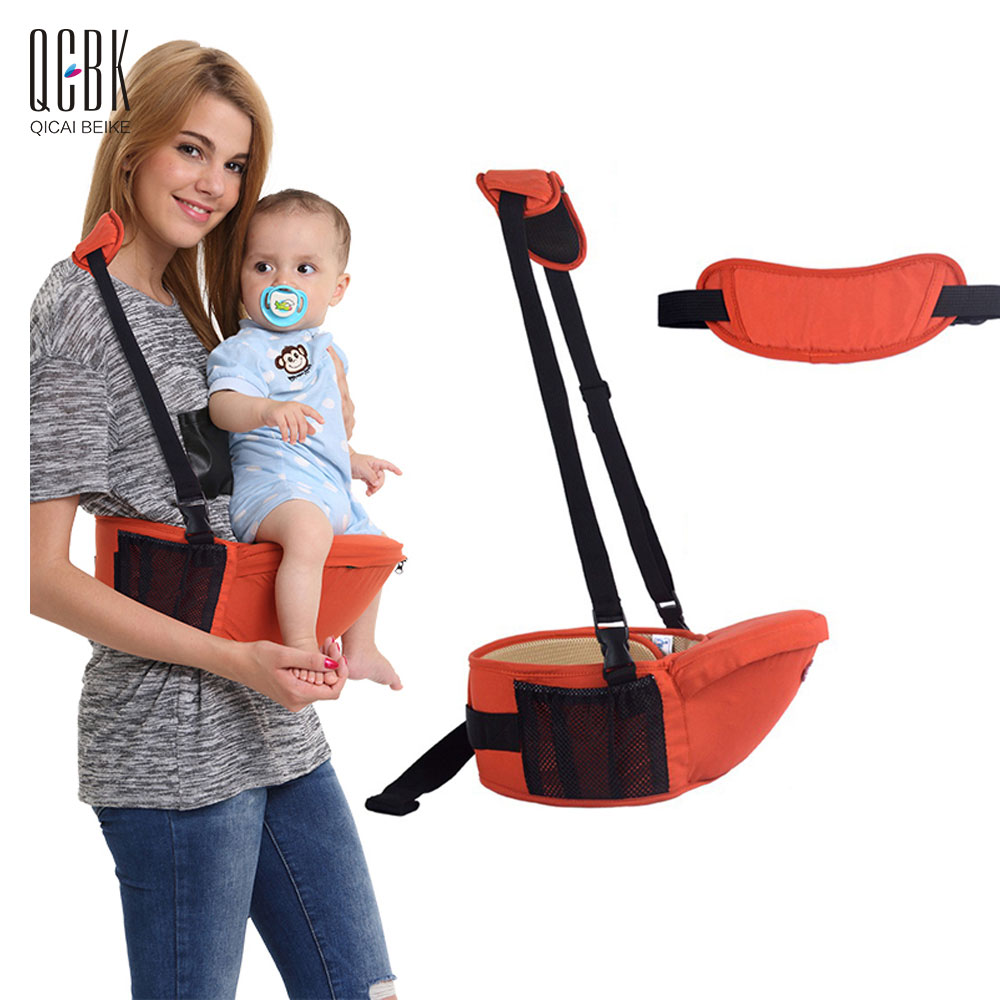 Breathable Fabric Baby Carrier Hip Seat With Skid Strip Kids Backpack Sling Wrap Toddler Baby Hipseat Kangaroo Suspenders<br>