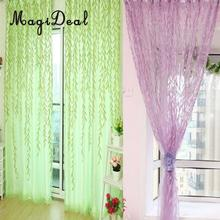 MagiDeal Delicate 1mx2m Willow Twig Pattern Room Voile Window Sheer Drapes Curtain for Home Wedding Hotel Party Restaurant Decor(China)