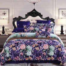 Classic Bedding set Flower and Plant printing Duvet cover sets bed pillowcases sheet set King size Queen size set(China)