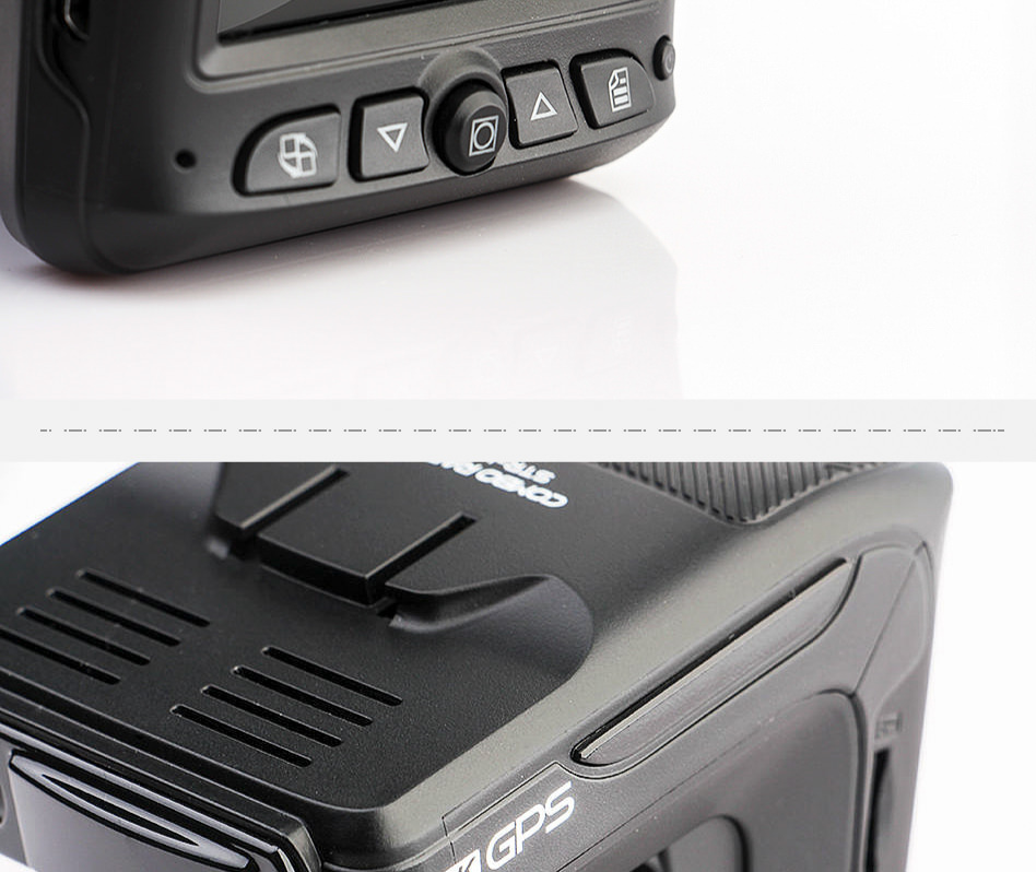 Ruccess STR-LD200-G 3 in 1 Car DVR Radar Detector Laser With GPS Full HD 1296P 1080P Dual Recorder Dash Camera Front and Rear (5)