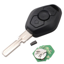 Latest 3 Button Remote Key For BMW E38 E39 E46 4 Track EWS System 433MHZ/315MHZ With Uncut HU58 Blade PCF7935AS Chip Inside