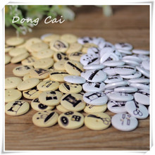 DongCai Manufacturers selling 100pcs Free Shipping manual design of cloth art Wooden Buttons fashion DIY craft accessories