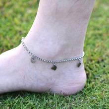 DIY 316L Stainless Steel Heart Shape Chain with Small Charms Stainless Steel Bracelet Ankle Jewelry A019