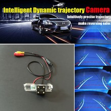 HD CCD Auto Rear view Backup Camera / Car Intelligent Dynamic Trajectory Camera For SEAT Altea / XL Stationwagon 2007 ~ 2015