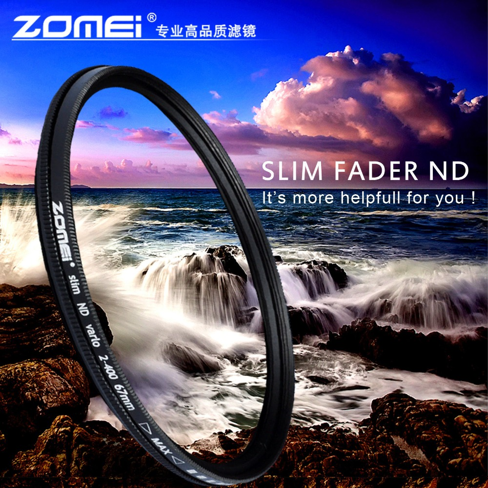 ZOMEI Glass Slim ND2-400 Neutral Density Fader Var...