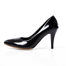 Brand New Glossy Women Nude Formal Pumps Black Red Green High Heels Glamour Sexy Ladies Bridal Shoes EHP36 Plus Big Size 31 43