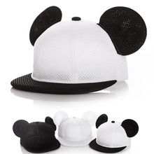 YIFEI 2017 children Lovely Mickey Big Ears Baseball Cap Girls Cute Mouse Hip Hop Caps Casual Summer Mesh Sun Hats Casquette Gift(China)