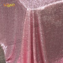 120x200cm Pink Gold Embroidered Sequin Rectangle Tablecloth Sequin Table Cloth for Wedding Birthday Party Buffet Decoration