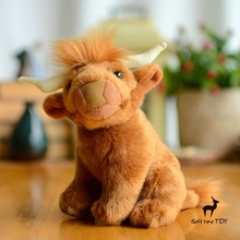 Cute  Simulation  Plush  Animal  Children'S Toys  Gifts  Highland Cattle Doll  Stuffed Toy Shop