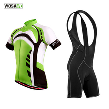 WOSAWE men cycling jersey sportwear short sleeve jacket maillot france with gel pad summer bicycle clothings