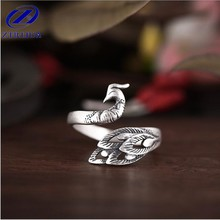 Buy Retro Silver Jewelry Thai Silver Personality Exquisite Peacock Wear Peony Accessories Female Ring SR235 for $2.73 in AliExpress store