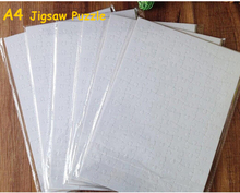 Free Shipping A4 Sublimation Blank Puzzle 10 pcs DIY Craft Jigsaw Puzzle(China)