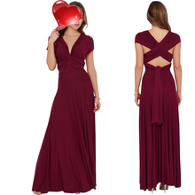 Maxi Dress 2017 Women Long Summer Convertible Bohemian Dresses Casual Bandage Evening Prom Club Party Infinity Multiway Dresses(China)