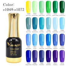 VENALISA One Step Color Gel Varnish Blue Series CANNI Nail Art Design Super Quality Soak off LED Organic Odorless UV Gel Polish(China)
