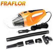 Hot Portable Car Vacuum Cleaner 120W 12V Handheld Mini Super Suction Wet And Dry Dual Use Vaccum Cleaner For Car 3 Colors(China)