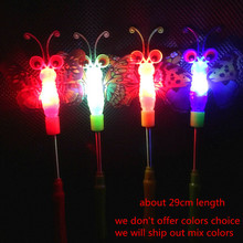 2018 Kids Girls LED Flashing Fairy Magic Wand Sticks Light up Princess Dress Up Prop Glow Party Christmas Navidad New Year(China)
