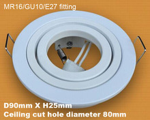 Square Gimble Gimbal LED downlight fixture round bulb holder lamp fixture
