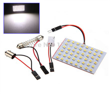 High Power 1210 48 SMD LED  White Car LED Interior Room Dome Door Car Light Panel Lamp Bulb White blue