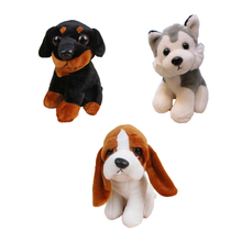 1pcs 18cm animals kawaii baby toy plush stuffed staff pug dog Huskies kids toys dogs Beagle Chihuahua Rottweiler Labrador toys(China)