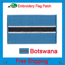 "Botswana flag 2.5X1.5"" free shipping/accessories iron on /jacket for clothes, dress, decoration good quality"