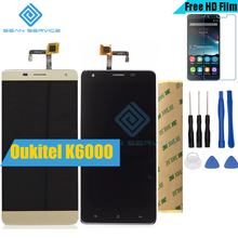 "For Oukitel K6000 Original LCD in Mobile phone LCD Display and TP Touch Screen Digitizer Assembly lcds +Tools 5.5"" 1280x720P"