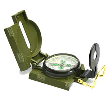 New Mini Military Camping Compass Marine Marching Lensatic Outdoor Hiking Magnifier Multi-function Kompass Compasso Army Green