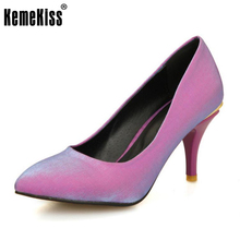 Buy KemeKiss 4 Colors Size 31-48 Sexy Women's High Heel Shoes Solid Color Thin Heels Pumps Sexy Shoes Party Wedding Dress Footwears for $26.96 in AliExpress store