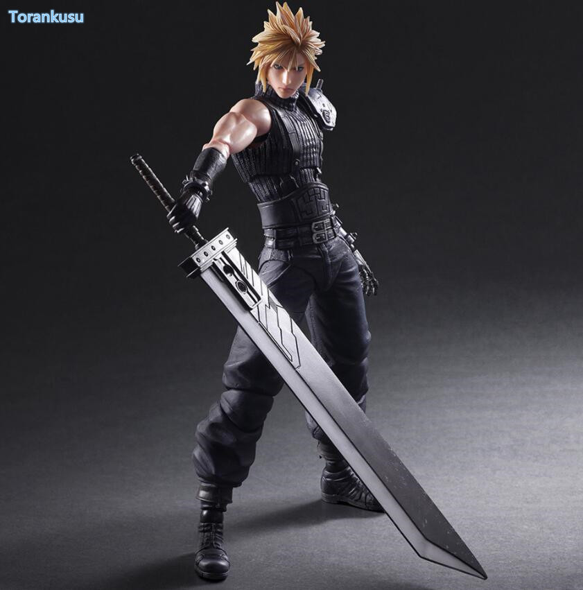 Final Fantasy Action Figure Cloud Strife 2nd Play Arts Kai Collection Model Toy 260mm Final Fantasy Cloud Strife Playarts PA24<br>