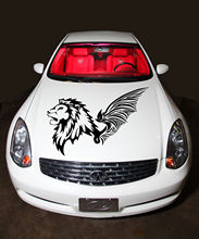 CAR HOOD VINYL STICKER DECALS GRAPHICS WILD ANIMAL LION WITH WINGS T372