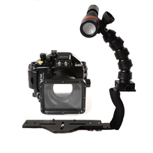 Underwater Waterproof Housing Diving Case for Panasonic GM1 LX100 Camera+ Flex Arm Bracket + Diving Archon D11V Led Video Torch