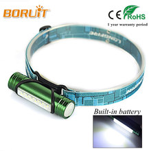 BORUIT Rechargeable Headlamp Torch 6T LED 500LM USB led Head Light Fishing HeadLight 3 modes Flashlight include 2200mah Battery(China)