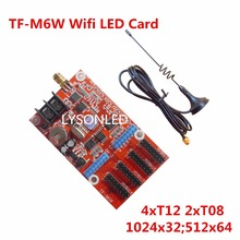 2017 Special Offer LongGreat TF-M6W WIFI LED Display Control Card 512x64Pixels, Single and Two Color led display Control card